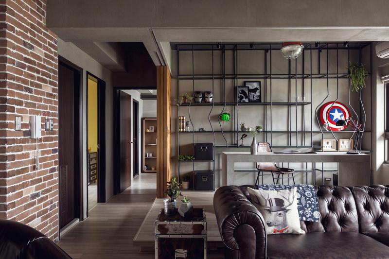 apartamento-masculino-industrial-03-sofá-de-couro