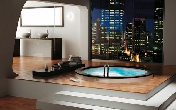Oval-whirlpool-tubs-spa-at-home-modern-bathroom-design-ideas