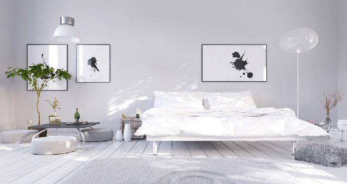 decoração-de-quartos-em-cinza-minimalista-moderno