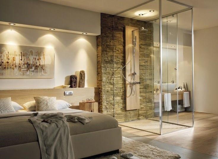 Banheiro e quarto integrados …