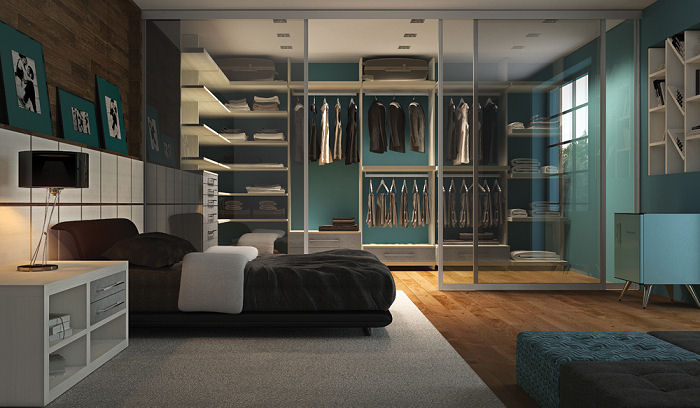 Quarto e Closet integrados!